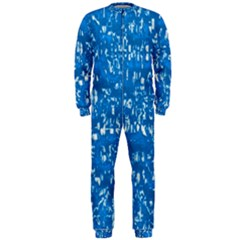 Glossy Abstract Teal Onepiece Jumpsuit (men)