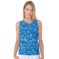 Glossy Abstract Teal Women s Basketball Tank Top