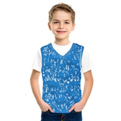 Glossy Abstract Teal Kids  SportsWear