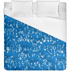 Glossy Abstract Teal Duvet Cover (King Size)