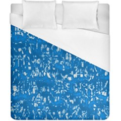 Glossy Abstract Teal Duvet Cover (California King Size)