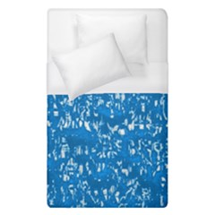 Glossy Abstract Teal Duvet Cover (Single Size)