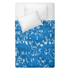 Glossy Abstract Teal Duvet Cover Double Side (Single Size)