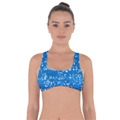 Glossy Abstract Teal Got No Strings Sports Bra