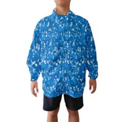 Glossy Abstract Teal Wind Breaker (Kids)