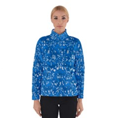 Glossy Abstract Teal Winterwear