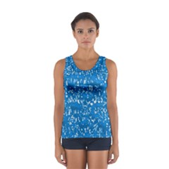 Glossy Abstract Teal Women s Sport Tank Top