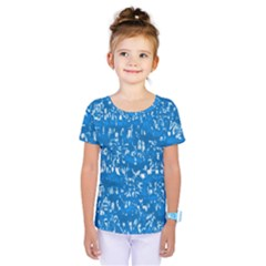 Glossy Abstract Teal Kids  One Piece Tee