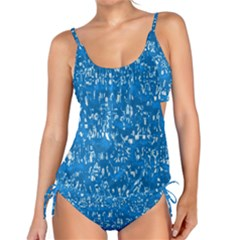 Glossy Abstract Teal Tankini