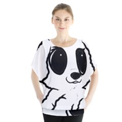 Poodle Cartoon White Blouse