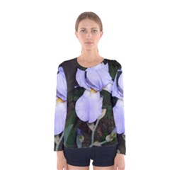 Bearded Iris Women s Long Sleeve Tee