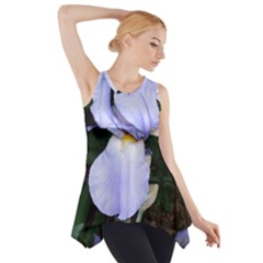 Bearded Iris Side Drop Tank Tunic