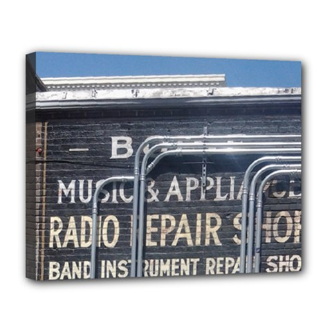 Boise Music And Appliance Radio Repair Painted Sign Canvas 14  x 11