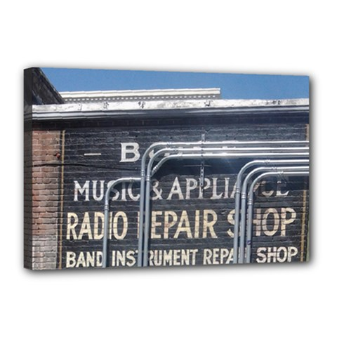 Boise Music And Appliance Radio Repair Painted Sign Canvas 18  x 12