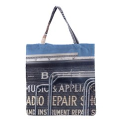 Boise Music And Appliance Radio Repair Painted Sign Grocery Tote Bag