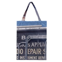 Boise Music And Appliance Radio Repair Painted Sign Classic Tote Bag