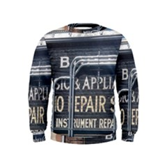 Boise Music And Appliance Radio Repair Painted Sign Kids  Sweatshirt