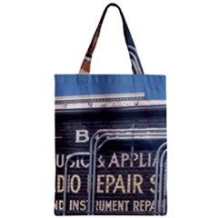 Boise Music And Appliance Radio Repair Painted Sign Zipper Classic Tote Bag