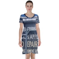Boise Music And Appliance Radio Repair Painted Sign Short Sleeve Nightdress