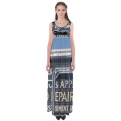 Boise Music And Appliance Radio Repair Painted Sign Empire Waist Maxi Dress