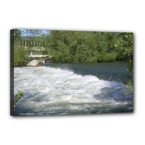 Boise River At Flood Stage Canvas 18  x 12