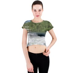 Boise River At Flood Stage Crew Neck Crop Top