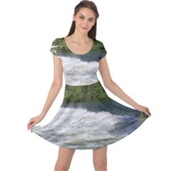 Boise River At Flood Stage Cap Sleeve Dresses