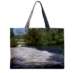 Boise River At Flood Stage Zipper Mini Tote Bag