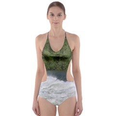 Boise River At Flood Stage Cut-Out One Piece Swimsuit