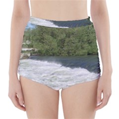 Boise River At Flood Stage High-Waisted Bikini Bottoms
