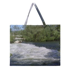 Boise River At Flood Stage Zipper Large Tote Bag