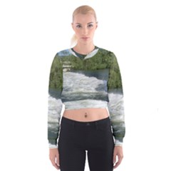 Boise River At Flood Stage Cropped Sweatshirt