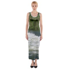 Boise River At Flood Stage Fitted Maxi Dress