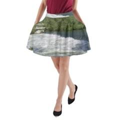 Boise River At Flood Stage A-Line Pocket Skirt