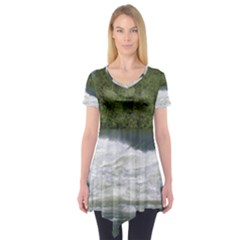 Boise River At Flood Stage Short Sleeve Tunic