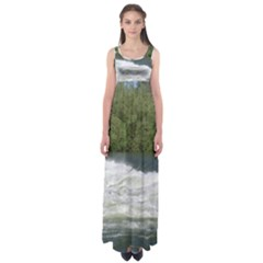 Boise River At Flood Stage Empire Waist Maxi Dress