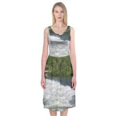 Boise River At Flood Stage Midi Sleeveless Dress
