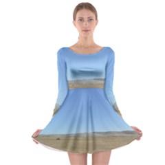 Bruneo Sand Dunes Long Sleeve Skater Dress
