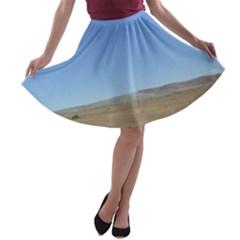 Bruneo Sand Dunes A-line Skater Skirt