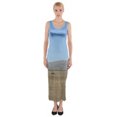 Bruneuo Sand Dunes 2 Fitted Maxi Dress