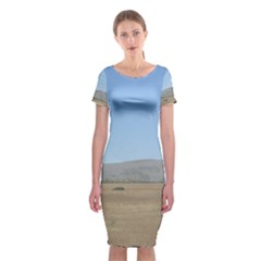 Bruneuo Sand Dunes 2 Classic Short Sleeve Midi Dress