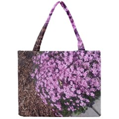 Butterfly On Purple Flowers Mini Tote Bag