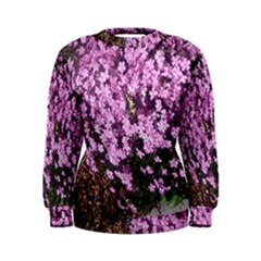 Butterfly On Purple Flowers Women s Sweatshirt
