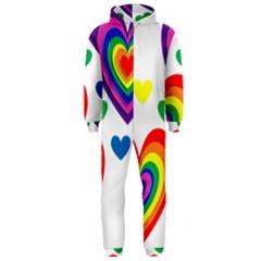 Pride Hearts Bg Hooded Jumpsuit (Men)