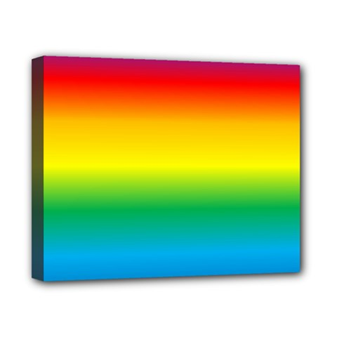 Rainbow Canvas 10  x 8
