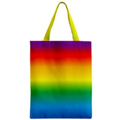 Rainbow Zipper Classic Tote Bag