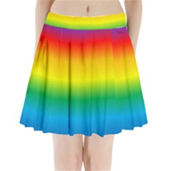 Rainbow Pleated Mini Skirt