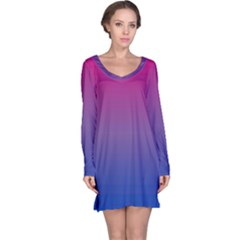 Bi Colors Long Sleeve Nightdress