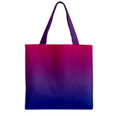 Bi Colors Zipper Grocery Tote Bag