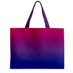 Bi Colors Zipper Mini Tote Bag